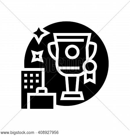 Career Growth Benefits Glyph Icon Vector. Career Growth Benefits Sign. Isolated Contour Symbol Black