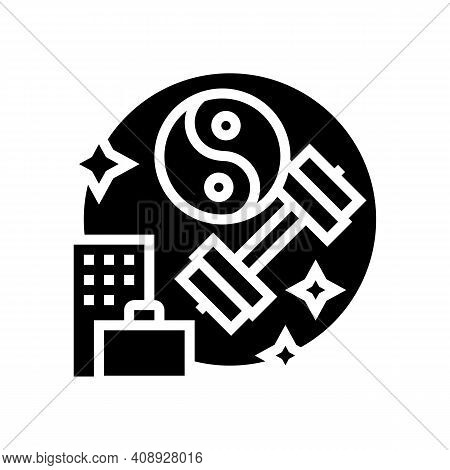 Keeping Fit And Health Benefits Glyph Icon Vector. Keeping Fit And Health Benefits Sign. Isolated Co