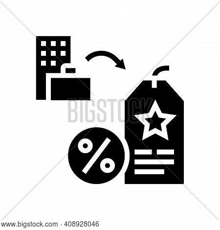 Staff Discount Benefits Glyph Icon Vector. Staff Discount Benefits Sign. Isolated Contour Symbol Bla