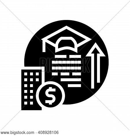 Training And Courses Benefits Glyph Icon Vector. Training And Courses Benefits Sign. Isolated Contou
