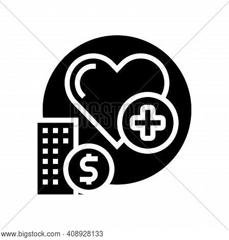 Health Care Benefits Glyph Icon Vector. Health Care Benefits Sign. Isolated Contour Symbol Black Ill