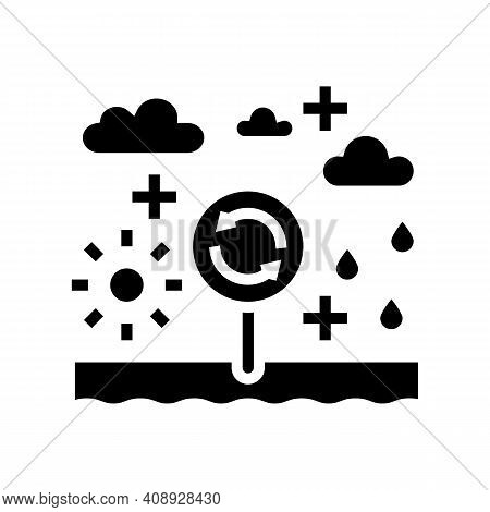 Climatope System Glyph Icon Vector. Climatope System Sign. Isolated Contour Symbol Black Illustratio