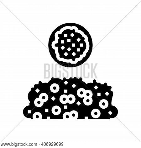 Dagoussa Groat Glyph Icon Vector. Dagoussa Groat Sign. Isolated Contour Symbol Black Illustration