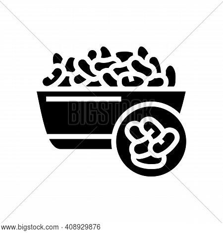 Beans Groat Glyph Icon Vector. Beans Groat Sign. Isolated Contour Symbol Black Illustration