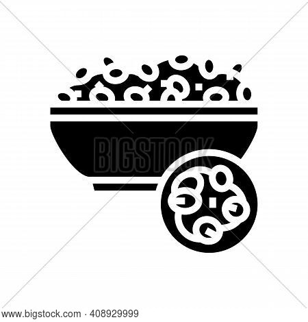 Pearl Barley Groat Glyph Icon Vector. Pearl Barley Groat Sign. Isolated Contour Symbol Black Illustr