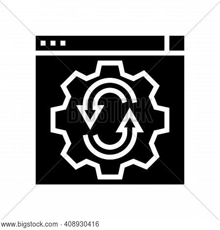 Web Site Optimize Glyph Icon Vector. Web Site Optimize Sign. Isolated Contour Symbol Black Illustrat