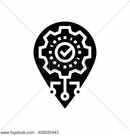 Gps Navigation Optimize Glyph Icon Vector. Gps Navigation Optimize Sign. Isolated Contour Symbol Bla