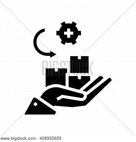 Receive Goods And Services Glyph Icon Vector. Receive Goods And Services Sign. Isolated Contour Symb