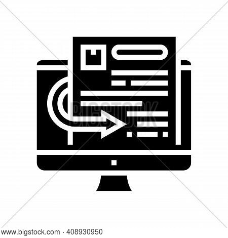 Quotation Requests Glyph Icon Vector. Quotation Requests Sign. Isolated Contour Symbol Black Illustr