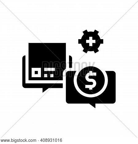 Procurement Process Glyph Icon Vector. Procurement Process Sign. Isolated Contour Symbol Black Illus