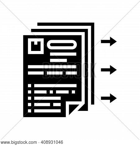 Purchase Requisition Glyph Icon Vector. Purchase Requisition Sign. Isolated Contour Symbol Black Ill