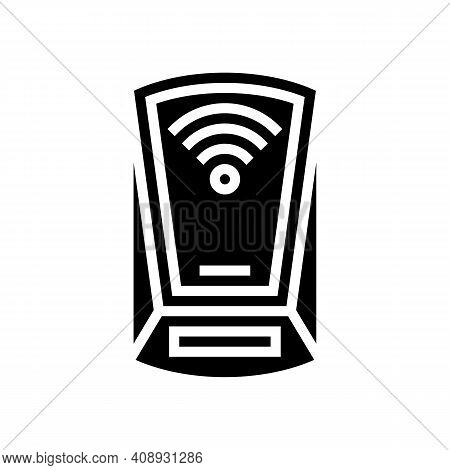 Scanning Rfid Device Glyph Icon Vector. Scanning Rfid Device Sign. Isolated Contour Symbol Black Ill