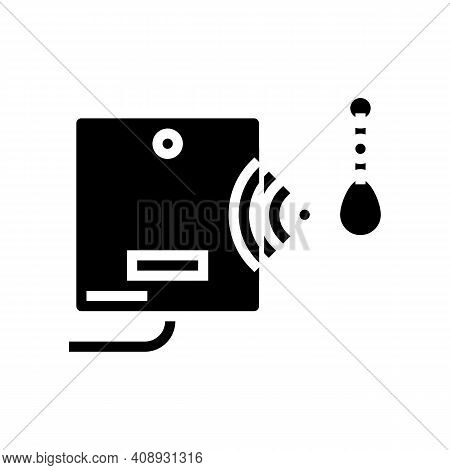Mini Trinket With Rfid Chip Glyph Icon Vector. Mini Trinket With Rfid Chip Sign. Isolated Contour Sy