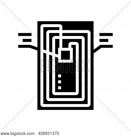 Chip Rfid Structure Glyph Icon Vector. Chip Rfid Structure Sign. Isolated Contour Symbol Black Illus