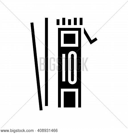 Electrodes For Welding Glyph Icon Vector. Electrodes For Welding Sign. Isolated Contour Symbol Black