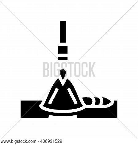 Electroslag Welding Glyph Icon Vector. Electroslag Welding Sign. Isolated Contour Symbol Black Illus