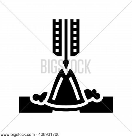 Butt Welding Glyph Icon Vector. Butt Welding Sign. Isolated Contour Symbol Black Illustration