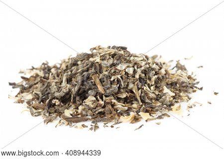 Jasmine oolong Chinese tea  isolated on white background