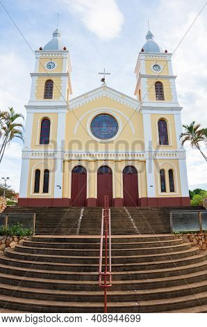 Capitólio - Mg, Brazil - December 08, 2020: Church At Downtown, São Sebastião Church At Padre João M