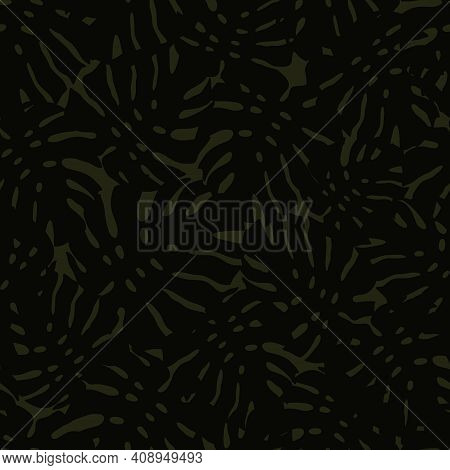 Tropical Seamless Pattern With Abstract Leaf Monstera. Vector Floral Background In Trendy Minimalist