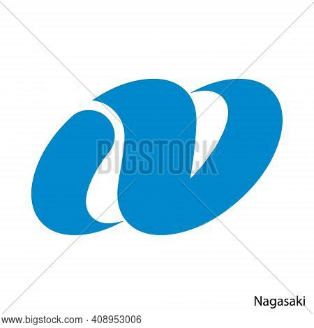 Coat Of Arms Of Nagasaki Is A Japan Prefecture. Vector Heraldic Emblem