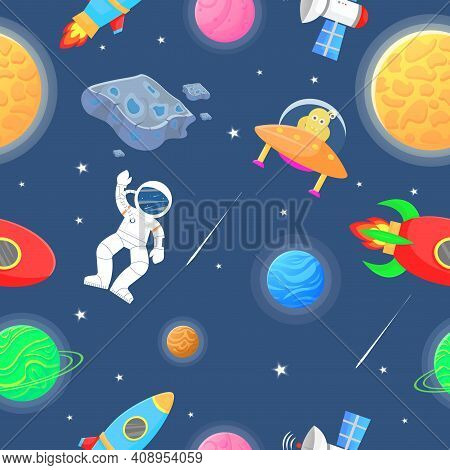 Planet Pattern With Constellations And Stars.