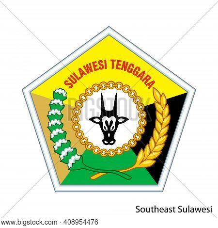 Coat Of Arms Of Southeast Sulawesi Is A Indonesian Region. Vector Heraldic Emblem