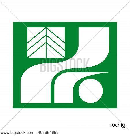 Coat Of Arms Of Tochigi Is A Japan Prefecture. Vector Heraldic Emblem