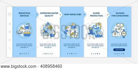 Hydropower Vector Infographic Template. Source Of Electricity And Storage Presentation Design Elemen