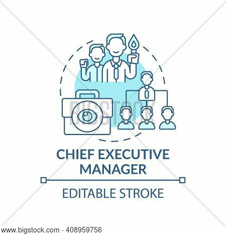 Chief Executive Manager Concept Icon. Top Management Positions. Corporate Executives Managing Busine