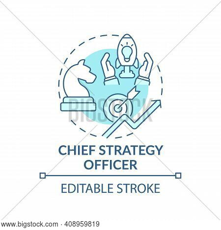 Chief Strategy Officer Concept Icon. Top Management Positions. Developing Corporate Opportunities. B