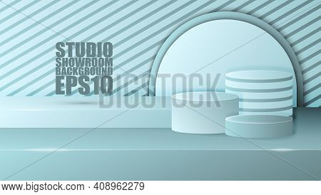 Eps10 Vector Illustration. Design Of A Luxury Showroom. Easy To Use To Promote Your Products.
