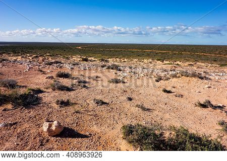 Desert, Stones And Bush Called Outback In Western Australia