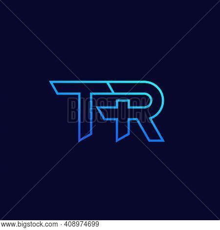 Tr Letter Logo, Monogram, Vector Linear Design