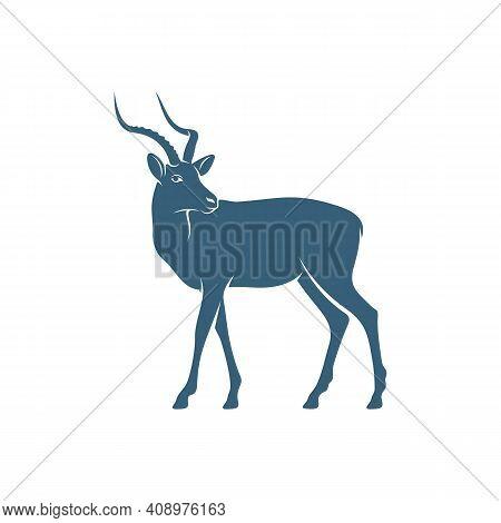 Antelope Design Vector Illustration, Creative Antelope Logo Design Concepts Template, Icon Symbol
