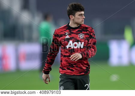 Torino, Italy. 18th February 2021. Daniel James Of Manchester United Fc  During  Uefa Europa League