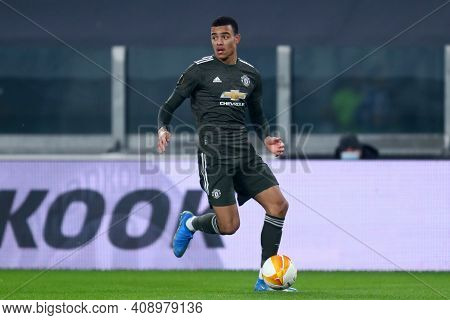 Torino, Italy. 18th February 2021. Mason Greenwood Of Manchester United Fc  During  Uefa Europa Leag