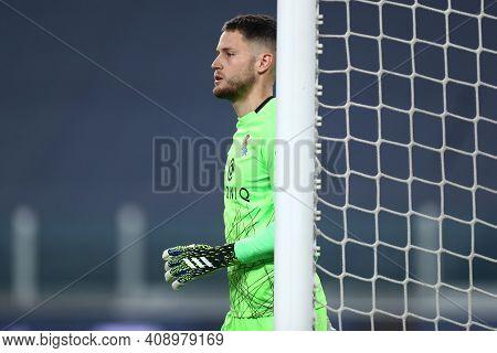 Torino, Italy. 18th February 2021. Alex Remiro Of Real Sociedad De Futbol  During  Uefa Europa Leagu