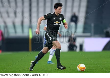 Torino, Italy. 18th February 2021. Harry Maguire Of Manchester United Fc  During  Uefa Europa League