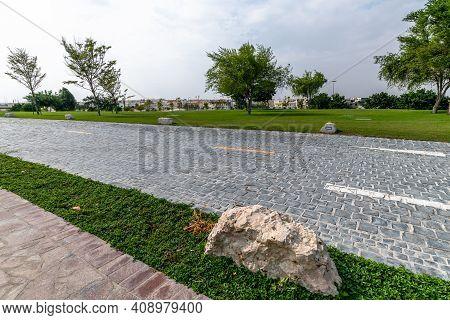 Doha, Qatar - Nov 20. 2019.the Katara Green Hills - Park