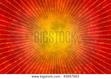Red Grunge Sunburst Background Or Texture