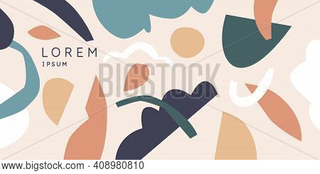 Modern Backgrounds With Abstract Elements And Dynamic Shapes. Compositions Of Colored Spots. Vector