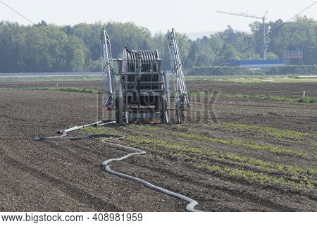 Irrigation And Watering In Agriculture, Arable Farming And Field Work
