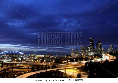 Dramatic Seattle Skyline