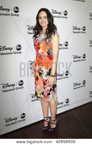 PASADENA - JAN 10: Madeleine Stowe at the Disney ABC Television Group 2013 TCA Winter Press Tour at The Langham Huntington Hotel on January 10, 2013 in Pasadena, CA