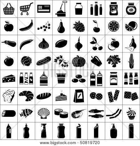 Set Of Supermarket Symbols