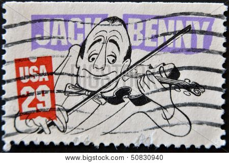 United States Of America - Circa 2001: A Stamp Printed In Usa Shows Jack Benny, Circa 2001