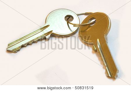 Two Keys with white background