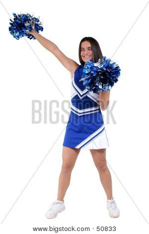 Beautiful Cheerleader Teen With Braces