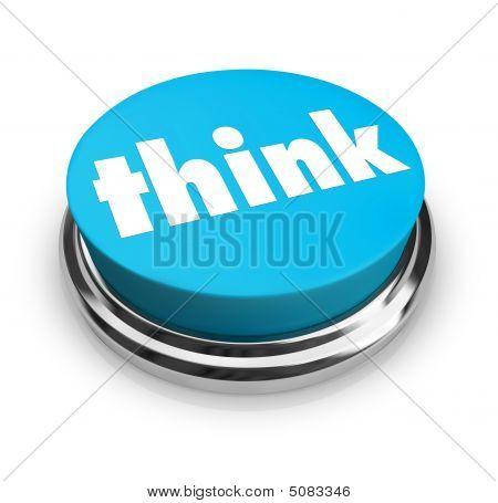 Pomyśl - niebieski przycisk